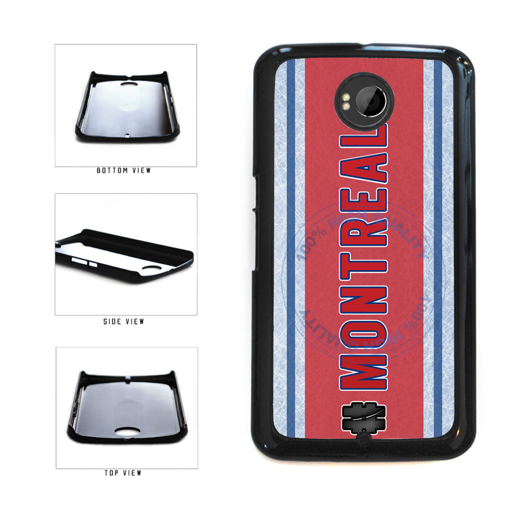 Hockey Team Hashtag Montreal #Montreal Plastic Phone Case Back Cover For Google Nexus 6 includes BleuReign(TM) Cloth and Warranty Label
