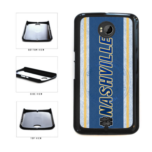 Hockey Team Hashtag Nashville #Nashville Plastic Phone Case Back Cover For Google Nexus 6 includes BleuReign(TM) Cloth and Warranty Label