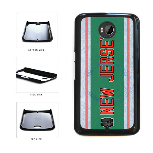 Hockey Team Hashtag New Jersey #NewJersey Plastic Phone Case Back Cover For Google Nexus 6 includes BleuReign(TM) Cloth and Warranty Label