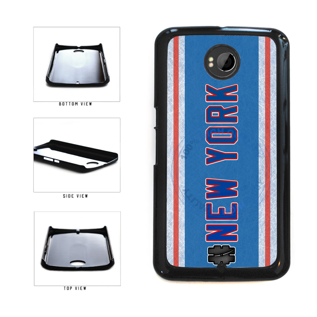 Hockey Team Hashtag New York Blue and Red #NewYork Plastic Phone Case Back Cover For Google Nexus 6 includes BleuReign(TM) Cloth and Warranty Label
