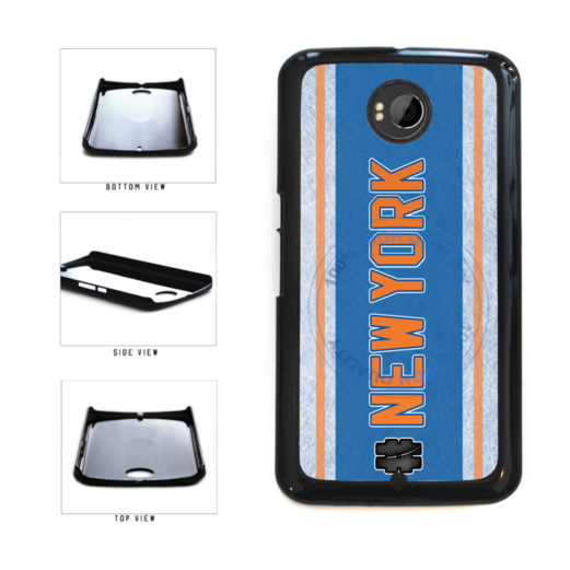 Hockey Team Hashtag New York Orange #NewYork Plastic Phone Case Back Cover For Google Nexus 6 includes BleuReign(TM) Cloth and Warranty Label
