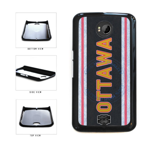 Hockey Team Hashtag Ottawa #Ottawa Plastic Phone Case Back Cover For Google Nexus 6 includes BleuReign(TM) Cloth and Warranty Label