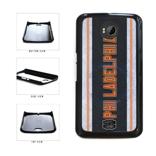 Hockey Team Hashtag Philadelphia #Philadelphia Plastic Phone Case Back Cover For Google Nexus 6 includes BleuReign(TM) Cloth and Warranty Label