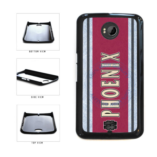 Hockey Team Hashtag Phoenix #Phoenix Plastic Phone Case Back Cover For Google Nexus 6 includes BleuReign(TM) Cloth and Warranty Label