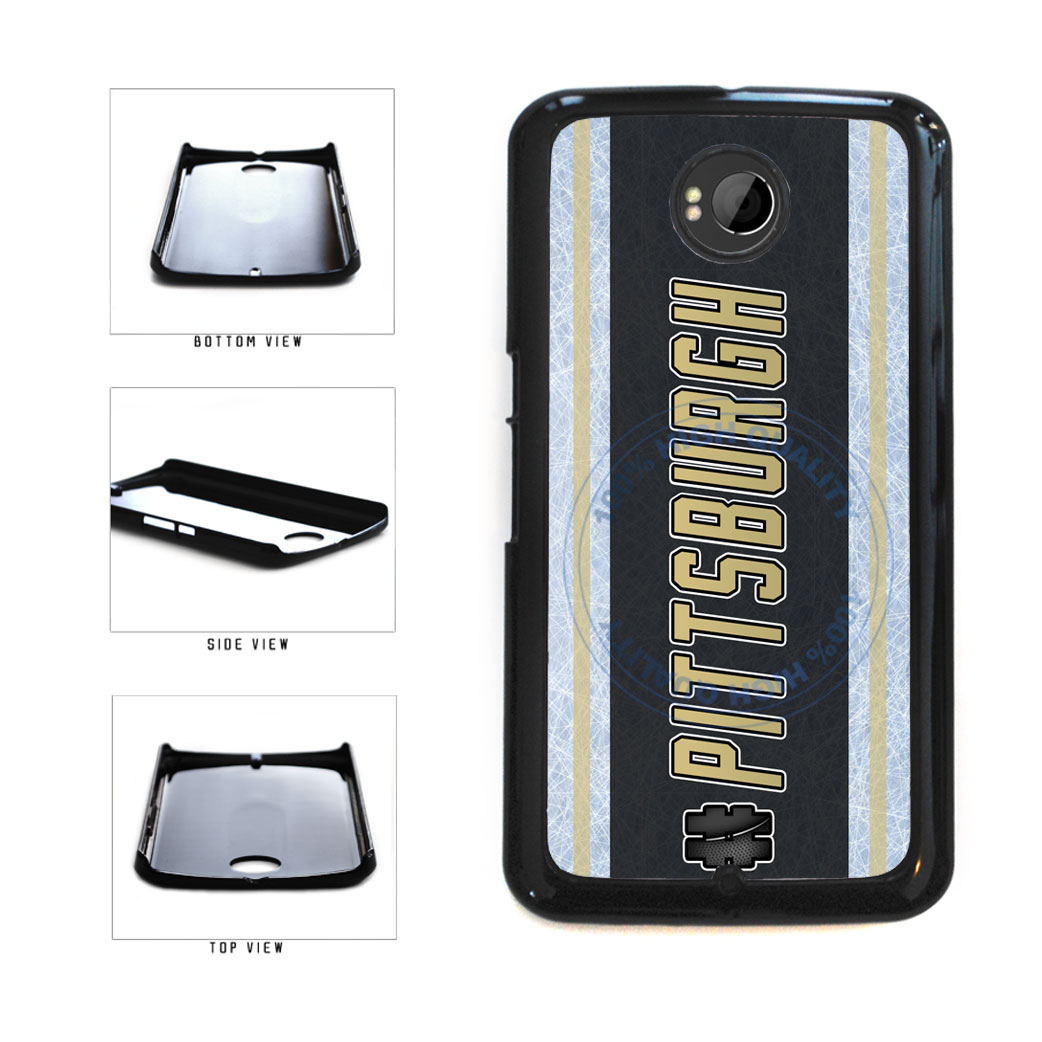 Hockey Team Hashtag Pittsburgh #Pittsburgh Plastic Phone Case Back Cover For Google Nexus 6 includes BleuReign(TM) Cloth and Warranty Label