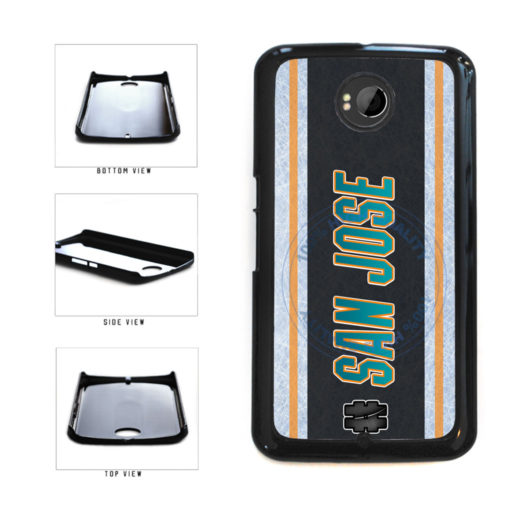 Hockey Team Hashtag San Jose #SanJose Plastic Phone Case Back Cover For Google Nexus 6 includes BleuReign(TM) Cloth and Warranty Label