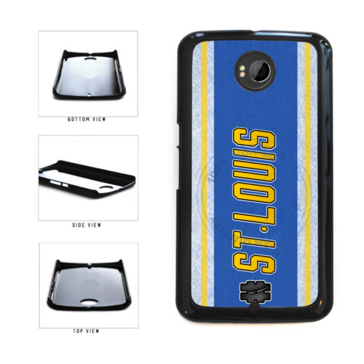 Hockey Team Hashtag St Louis #StLouis Plastic Phone Case Back Cover For Google Nexus 6 includes BleuReign(TM) Cloth and Warranty Label