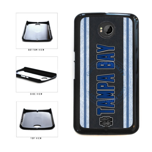 Hockey Team Hashtag Tampa Bay #TampaBay Plastic Phone Case Back Cover For Google Nexus 6 includes BleuReign(TM) Cloth and Warranty Label