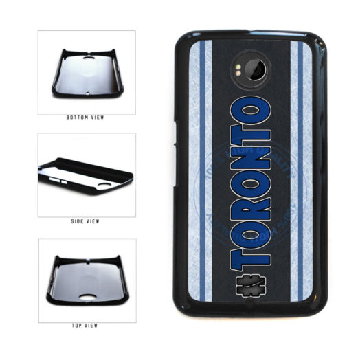 Hockey Team Hashtag Toronto #Toronto Plastic Phone Case Back Cover For Google Nexus 6 includes BleuReign(TM) Cloth and Warranty Label