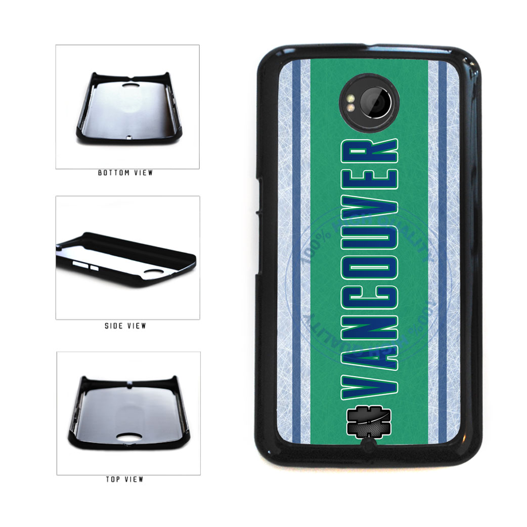 Hockey Team Hashtag Vancouver #Vancouver Plastic Phone Case Back Cover For Google Nexus 6 includes BleuReign(TM) Cloth and Warranty Label