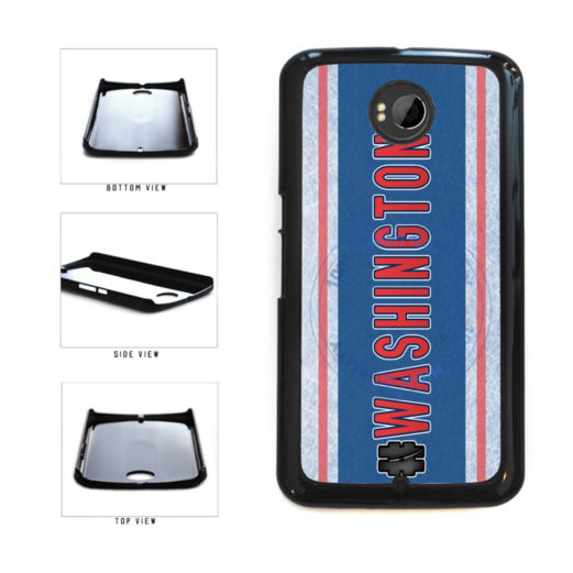Hockey Team Hashtag Washington #Washington Plastic Phone Case Back Cover For Google Nexus 6 includes BleuReign(TM) Cloth and Warranty Label