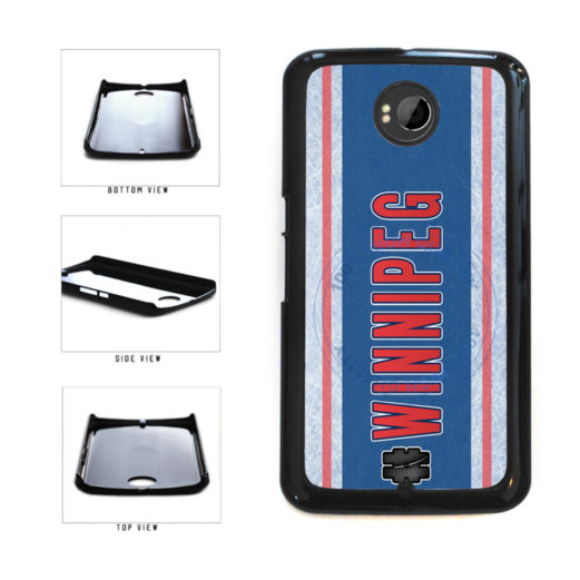 Hockey Team Hashtag Winnipeg #Winnipeg Plastic Phone Case Back Cover For Google Nexus 6 includes BleuReign(TM) Cloth and Warranty Label
