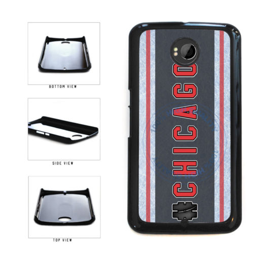 Hockey Team Hashtag Chicago #Chicago Plastic Phone Case Back Cover For Google Nexus 6 includes BleuReign(TM) Cloth and Warranty Label