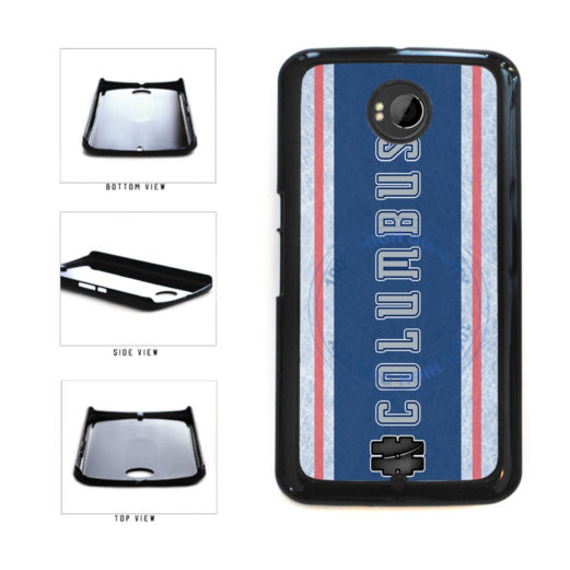Hockey Team Hashtag Columbus #Columbus Plastic Phone Case Back Cover For Google Nexus 6 includes BleuReign(TM) Cloth and Warranty Label