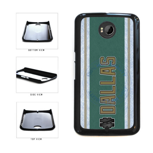 Hockey Team Hashtag Dallas #Dallas Plastic Phone Case Back Cover For Google Nexus 6 includes BleuReign(TM) Cloth and Warranty Label