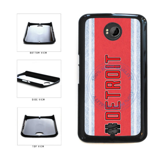 Hockey Team Hashtag Detroit #Detroit Plastic Phone Case Back Cover For Google Nexus 6 includes BleuReign(TM) Cloth and Warranty Label