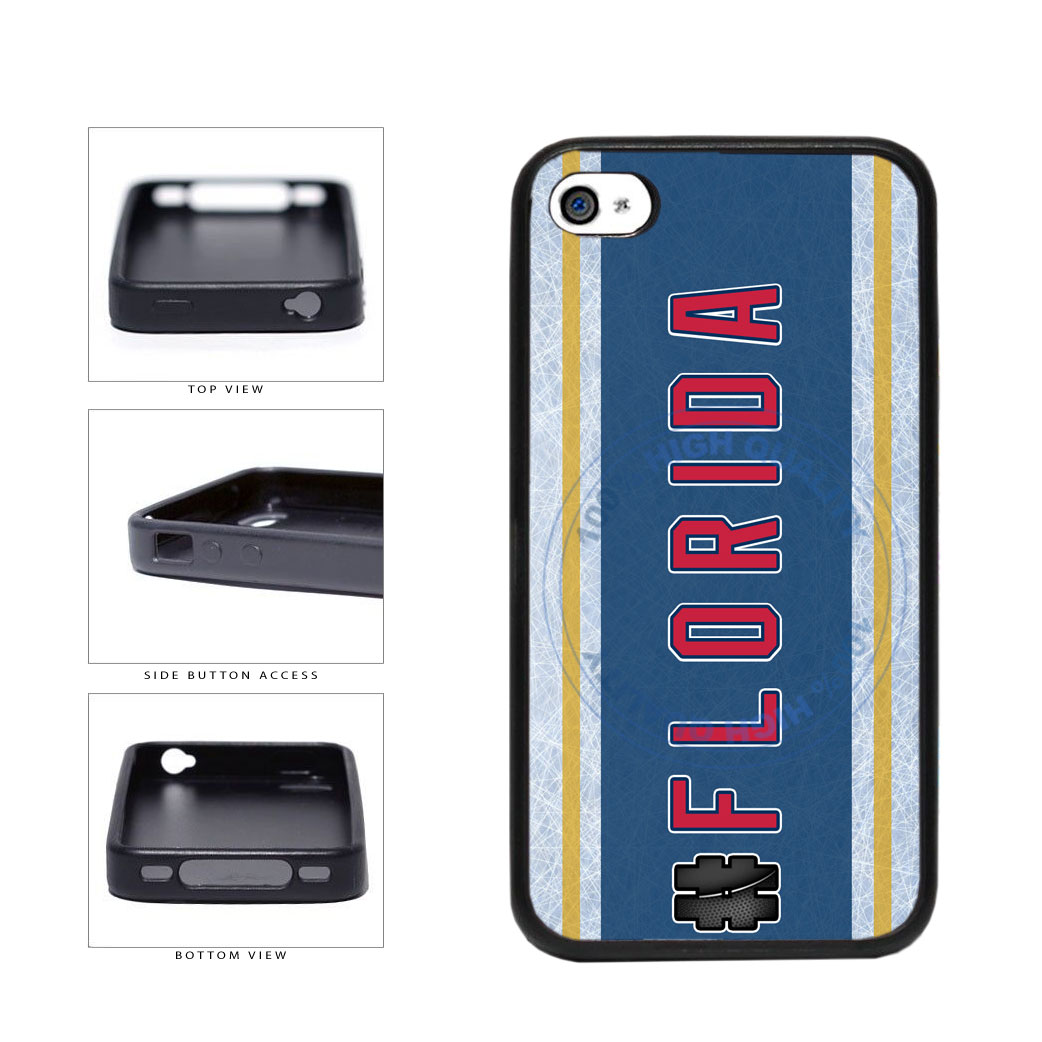 Hockey Team Hashtag Florida #Florida TPU Rubber SILICONE Phone Case Back Cover For Apple iPhone 4 4S includes BleuReign(TM) Cloth and Warranty Label