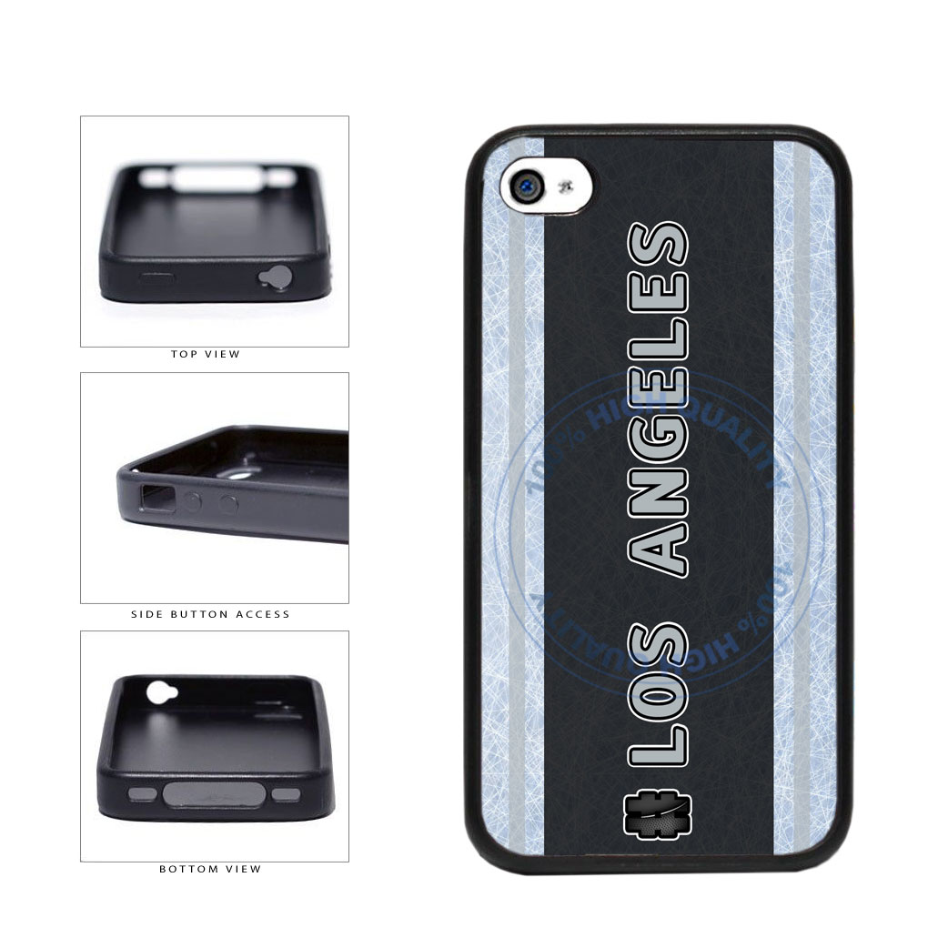 Hockey Team Hashtag Los Angeles #LosAngeles TPU Rubber SILICONE Phone Case Back Cover For Apple iPhone 4 4S includes BleuReign(TM) Cloth and Warranty Label