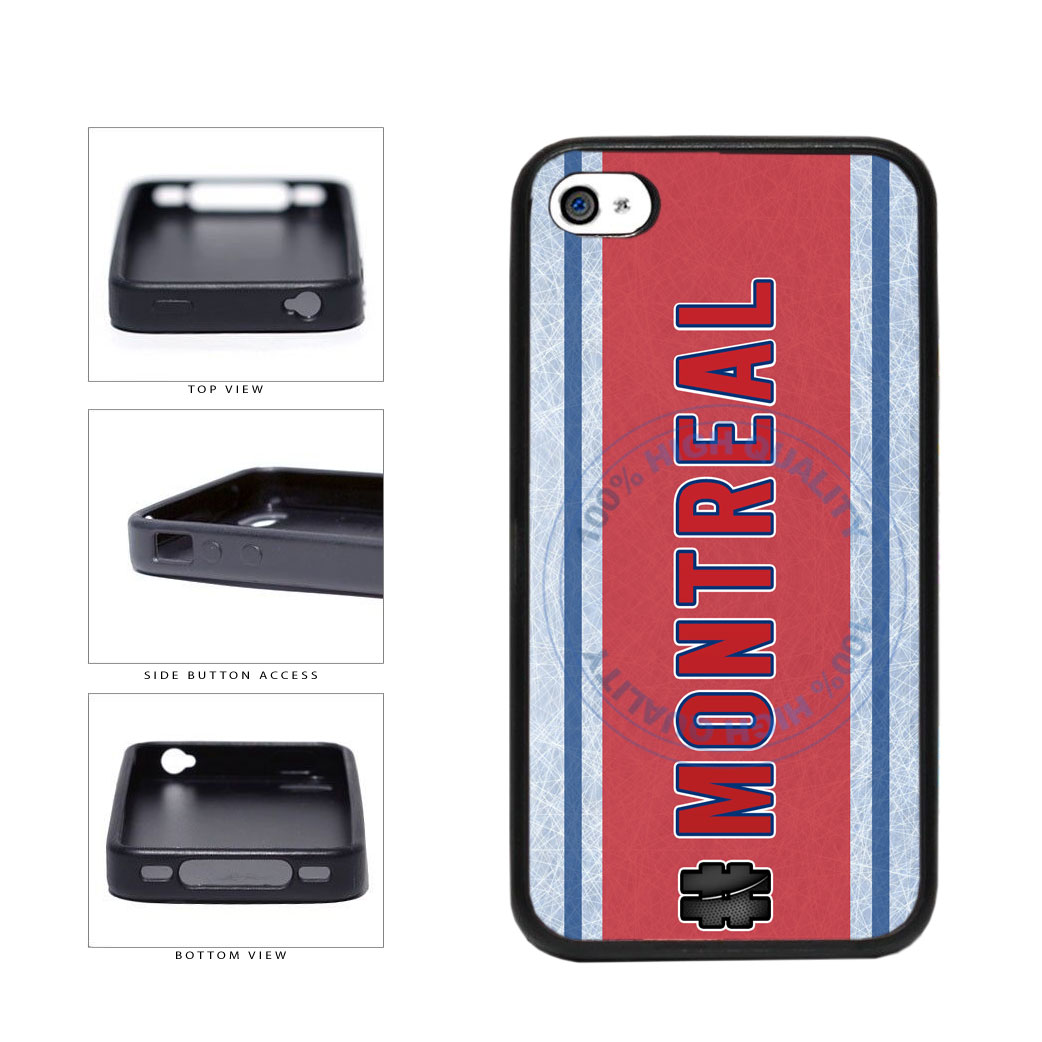 Hockey Team Hashtag Montreal #Montreal TPU Rubber SILICONE Phone Case Back Cover For Apple iPhone 4 4S includes BleuReign(TM) Cloth and Warranty Label