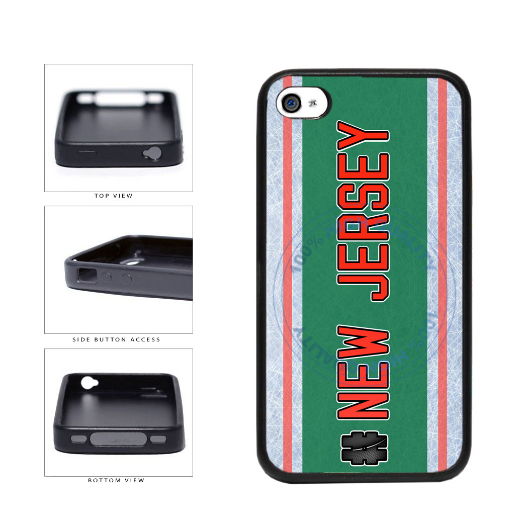 Hockey Team Hashtag New Jersey #NewJersey TPU Rubber SILICONE Phone Case Back Cover For Apple iPhone 4 4S includes BleuReign(TM) Cloth and Warranty Label
