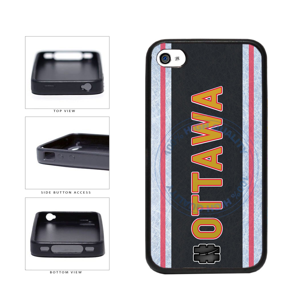 Hockey Team Hashtag Ottawa #Ottawa TPU Rubber SILICONE Phone Case Back Cover For Apple iPhone 4 4S includes BleuReign(TM) Cloth and Warranty Label