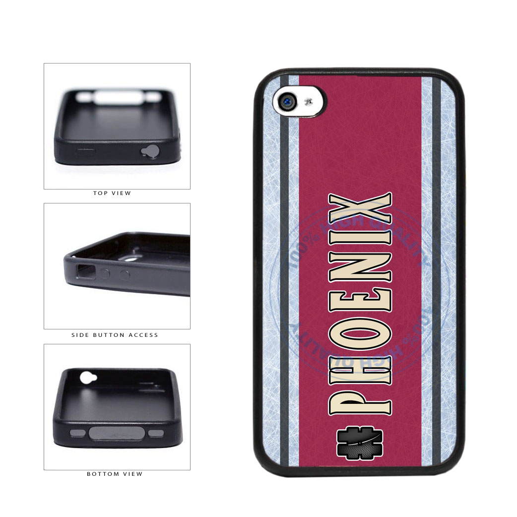 Hockey Team Hashtag Phoenix #Phoenix TPU Rubber SILICONE Phone Case Back Cover For Apple iPhone 4 4S includes BleuReign(TM) Cloth and Warranty Label