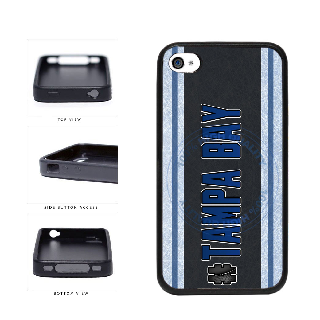Hockey Team Hashtag Tampa Bay #TampaBay TPU Rubber SILICONE Phone Case Back Cover For Apple iPhone 4 4S includes BleuReign(TM) Cloth and Warranty Label