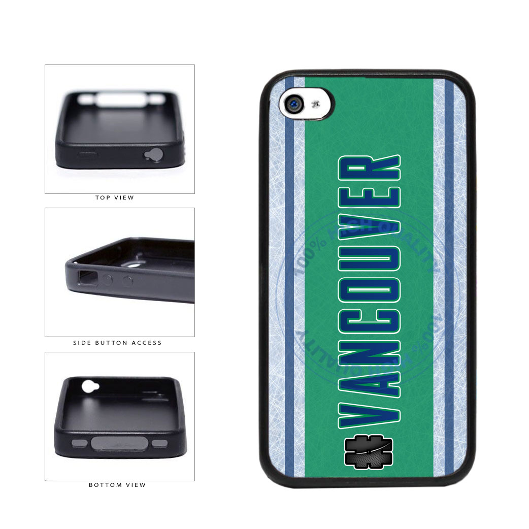 Hockey Team Hashtag Vancouver #Vancouver TPU Rubber SILICONE Phone Case Back Cover For Apple iPhone 4 4S includes BleuReign(TM) Cloth and Warranty Label