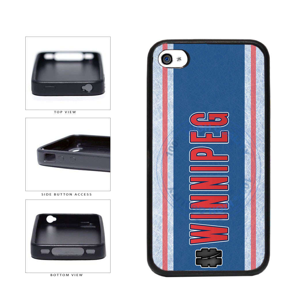 Hockey Team Hashtag Winnipeg #Winnipeg TPU Rubber SILICONE Phone Case Back Cover For Apple iPhone 4 4S includes BleuReign(TM) Cloth and Warranty Label