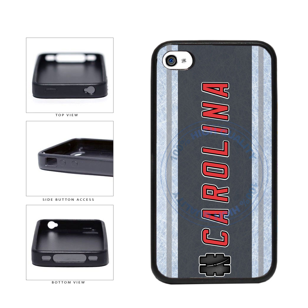 Hockey Team Hashtag Carolina #Carolina TPU Rubber SILICONE Phone Case Back Cover For Apple iPhone 4 4S includes BleuReign(TM) Cloth and Warranty Label