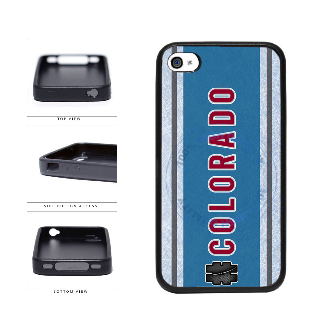 Hockey Team Hashtag Colorado #Colorado TPU Rubber SILICONE Phone Case Back Cover For Apple iPhone 4 4S includes BleuReign(TM) Cloth and Warranty Label