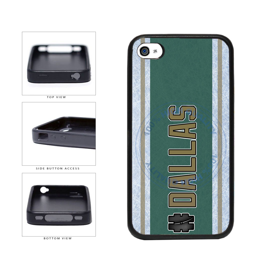 Hockey Team Hashtag Dallas #Dallas TPU Rubber SILICONE Phone Case Back Cover For Apple iPhone 4 4S includes BleuReign(TM) Cloth and Warranty Label
