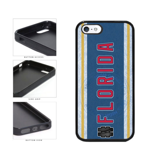 Hockey Team Hashtag Florida #Florida TPU Rubber SILICONE Phone Case Back Cover For Apple iPhone 5 5S includes BleuReign(TM) Cloth and Warranty Label