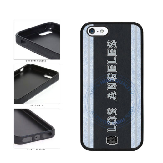 Hockey Team Hashtag Los Angeles #LosAngeles TPU Rubber SILICONE Phone Case Back Cover For Apple iPhone 5 5S includes BleuReign(TM) Cloth and Warranty Label