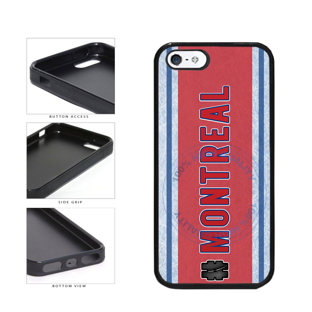 Hockey Team Hashtag Montreal #Montreal TPU Rubber SILICONE Phone Case Back Cover For Apple iPhone 5 5S includes BleuReign(TM) Cloth and Warranty Label