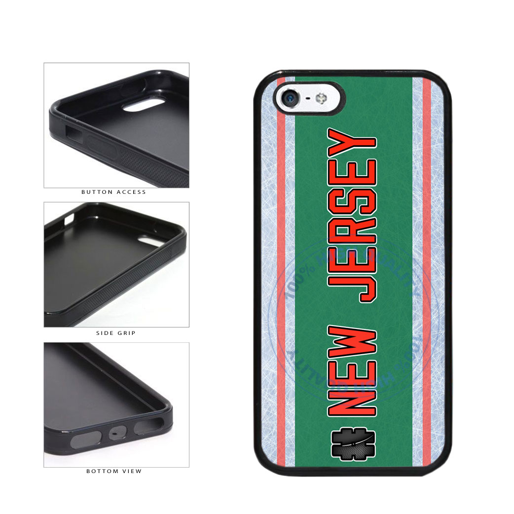 Hockey Team Hashtag New Jersey #NewJersey TPU Rubber SILICONE Phone Case Back Cover For Apple iPhone 5 5S includes BleuReign(TM) Cloth and Warranty Label