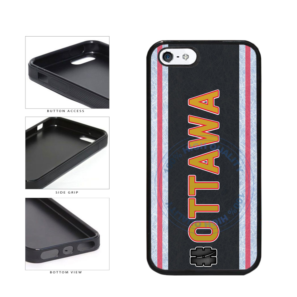 Hockey Team Hashtag Ottawa #Ottawa TPU Rubber SILICONE Phone Case Back Cover For Apple iPhone 5 5S includes BleuReign(TM) Cloth and Warranty Label
