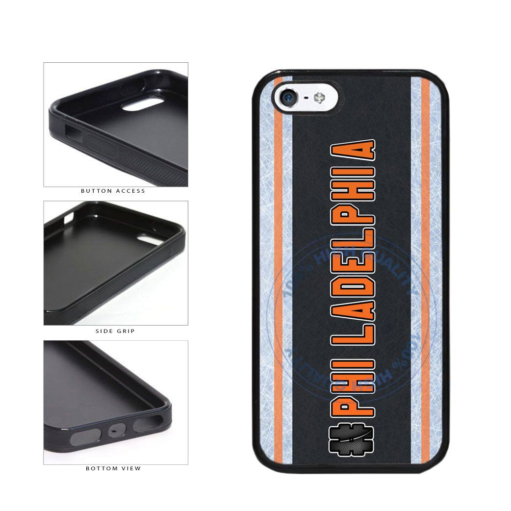 Hockey Team Hashtag Philadelphia #Philadelphia TPU Rubber SILICONE Phone Case Back Cover For Apple iPhone 5 5S includes BleuReign(TM) Cloth and Warranty Label