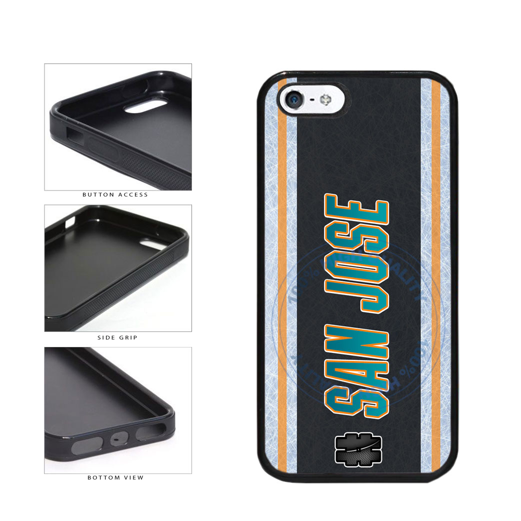 Hockey Team Hashtag San Jose #SanJose TPU Rubber SILICONE Phone Case Back Cover For Apple iPhone 5 5S includes BleuReign(TM) Cloth and Warranty Label