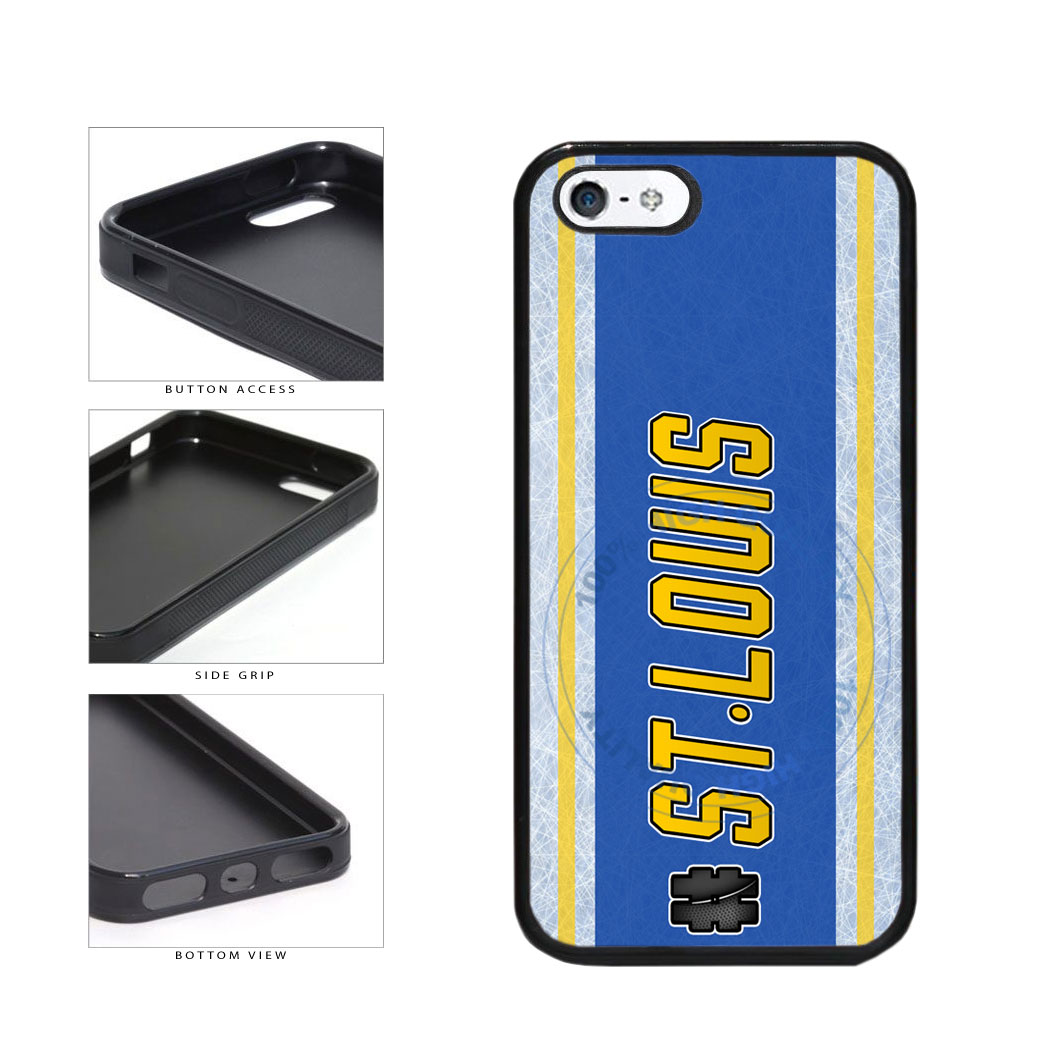 Hockey Team Hashtag St Louis #StLouis TPU Rubber SILICONE Phone Case Back Cover For Apple iPhone 5 5S includes BleuReign(TM) Cloth and Warranty Label
