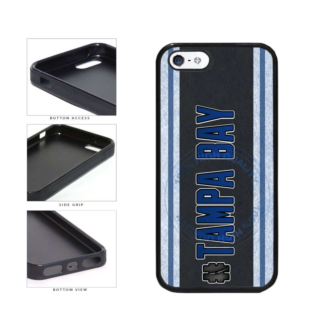 Hockey Team Hashtag Tampa Bay #TampaBay TPU Rubber SILICONE Phone Case Back Cover For Apple iPhone 5 5S includes BleuReign(TM) Cloth and Warranty Label