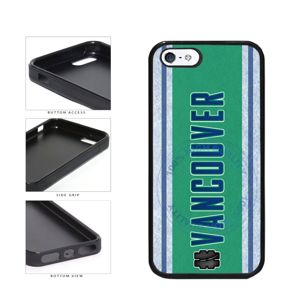 Hockey Team Hashtag Vancouver #Vancouver TPU Rubber SILICONE Phone Case Back Cover For Apple iPhone 5 5S includes BleuReign(TM) Cloth and Warranty Label