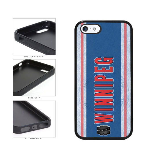 Hockey Team Hashtag Winnipeg #Winnipeg TPU Rubber SILICONE Phone Case Back Cover For Apple iPhone 5 5S includes BleuReign(TM) Cloth and Warranty Label