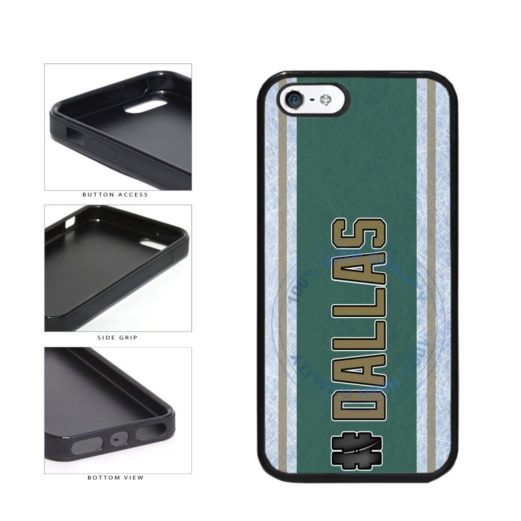 Hockey Team Hashtag Dallas #Dallas TPU Rubber SILICONE Phone Case Back Cover For Apple iPhone 5 5S includes BleuReign(TM) Cloth and Warranty Label