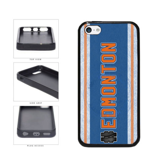 Hockey Team Hashtag Edmonton #Edmonton TPU Rubber SILICONE Phone Case Back Cover For Apple iPhone 5c includes BleuReign(TM) Cloth and Warranty Label