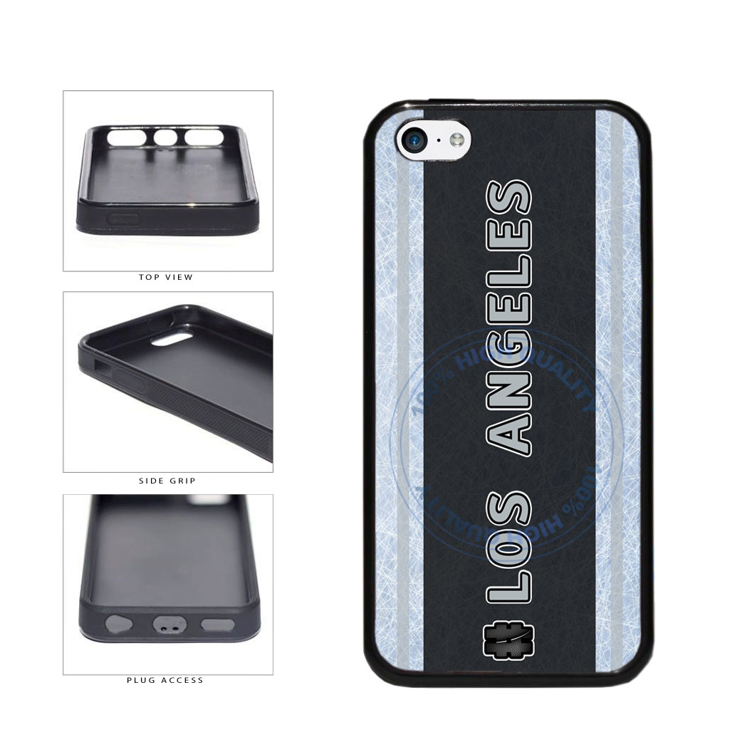 Hockey Team Hashtag Los Angeles #LosAngeles TPU Rubber SILICONE Phone Case Back Cover For Apple iPhone 5c includes BleuReign(TM) Cloth and Warranty Label