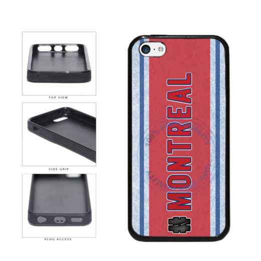 Hockey Team Hashtag Montreal #Montreal TPU Rubber SILICONE Phone Case Back Cover For Apple iPhone 5c includes BleuReign(TM) Cloth and Warranty Label