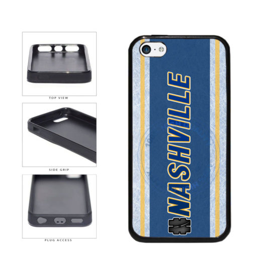 Hockey Team Hashtag Nashville #Nashville TPU Rubber SILICONE Phone Case Back Cover For Apple iPhone 5c includes BleuReign(TM) Cloth and Warranty Label