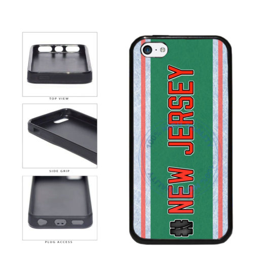 Hockey Team Hashtag New Jersey #NewJersey TPU Rubber SILICONE Phone Case Back Cover For Apple iPhone 5c includes BleuReign(TM) Cloth and Warranty Label