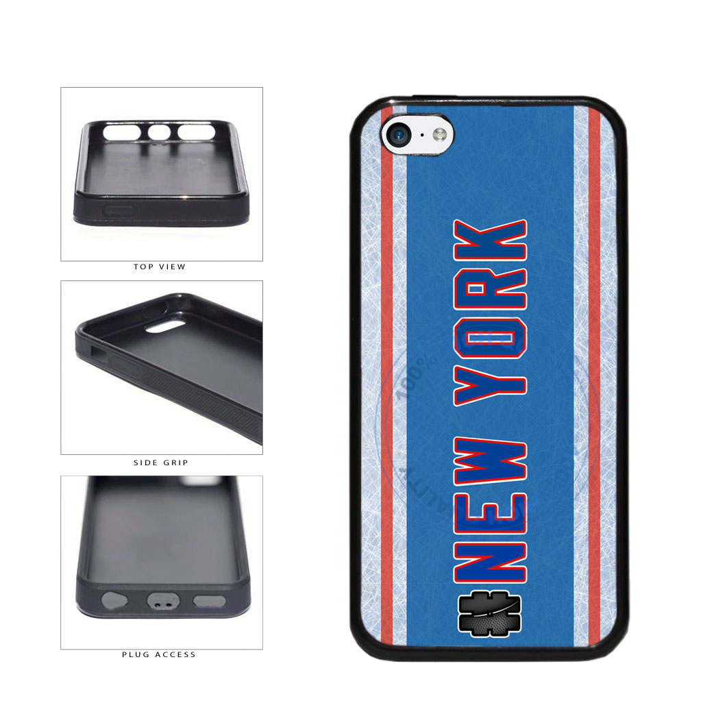 Hockey Team Hashtag New York Blue and Red #NewYork TPU Rubber SILICONE Phone Case Back Cover For Apple iPhone 5c includes BleuReign(TM) Cloth and Warranty Label